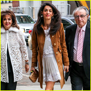 Amal Clooney Takes Her Parents to New York's Hottest Show