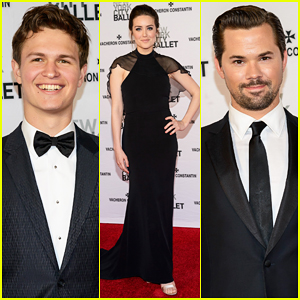 Ansel Elgort & Andrew Rannells Bring Their Good Looks to the New York City Ballet Spring Gala 2015!