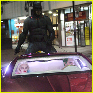 Ben Affleck's Batman Chases After Jared Leto's Joker in New 'Suicide Squad' Set Photos