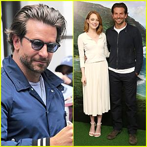 Bradley Cooper & Emma Stone Say 'Aloha' in London!