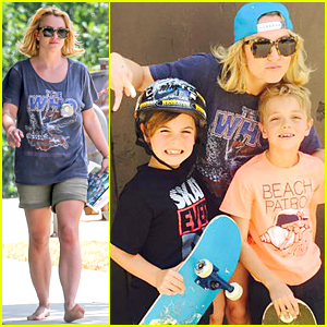 Britney Spears Is Proud Skate Mom to Jayden James & Sean Preston - See Cute Pic!
