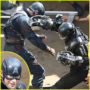 Captain America & Crossbones Have an Epic Battle in 'Captain America: Civil War' Set Photos!