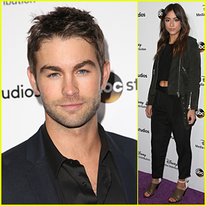 Chace Crawford & Chloe Bennet Look Perfect For Disney International Upfronts
