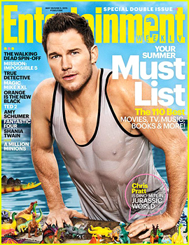 Chris Pratts Abs Are Very Defined Through His Wet T Shirt For Ew on angelina presenting at oscars