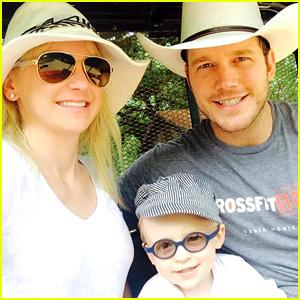 Chris Pratt & Anna Faris Share Adorable Family Photos with Son Jack!