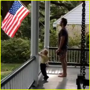 Chris Pratt Teaches Son Jack the Pledge of Allegiance in Cutest Video Ever - Watch Now!
