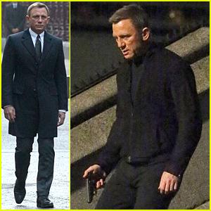 Daniel Craig Is Armed & Dangerous on 'Spectre' Set