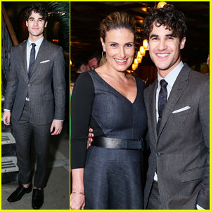 Darren Criss Gets Support From Idina Menzel & Andrew Rannells at 'Hedwig & The Angry Inch' Celebration!
