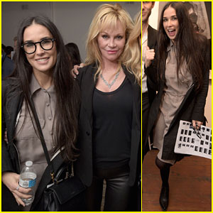 Demi Moore & Melanie Griffith Catch Up at Photography Exhibit