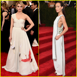 Dianna Agron & Maggie Q Both Don Tory Burch to Met Gala 2015