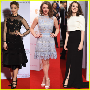 Dianna Agron & Maisie Williams Doll Up for BAFTA TV Awards