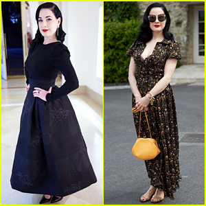 Dita Von Teese Says Goodbye to Cannes 2015 In Style!