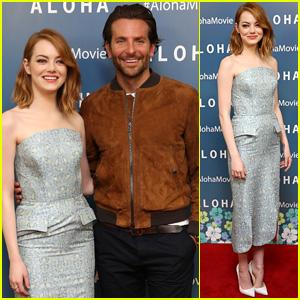 Emma Stone & Bradley Cooper Screen 'Aloha' in London