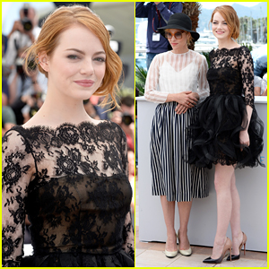 Emma Stone Is Lovely in Lace for 'Irrational Man' Cannes Photo Call!