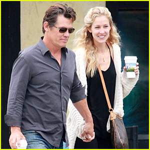 Engaged Couple Josh Brolin & Kathryn Boyd Hold Hands in Los Angeles