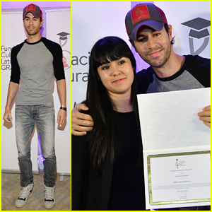 Enrique Iglesias Teams Up with Latin Grammy Cultural Foundation to Present Special Scholarship!