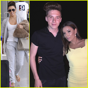 Eva Longoria Hangs Out With Brooklyn Beckham at David's 40th Birthday Bash in Morocco