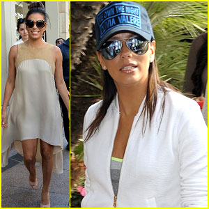 Eva Longoria Keeps Busy While Attending the Cannes Film Festival 2015