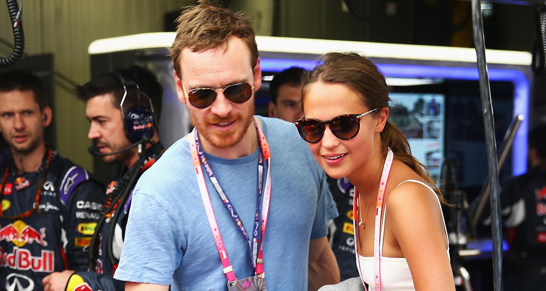 Michael Fassbender Amp Alicia Vikander Couple Up At F1 Grand Prix Alicia Vikander Michael
