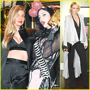 Fergie Shows Off Black Bra at WhoYouAre Launch