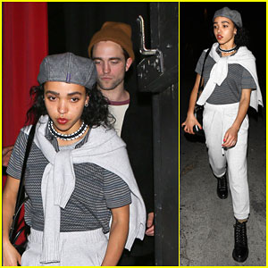 Robert Pattinson & FKA Twigs Attend Benefit for the People of Nepal