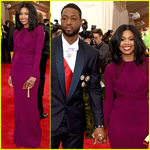 Gabrielle Union & Dwyane Wade Hold Holds at Met Gala 2015