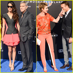 George Clooney Gets Support From Amal At 'Tomorrowland' Premiere