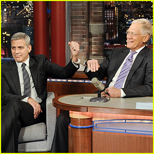George Clooney Handcuffs Himself to David Letterman (Video)