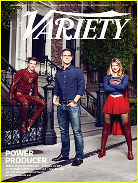 TV Superheroes Grant Gustin & Melissa Benoist Cover 'Variety' Magazine With Producer Greg Berlanti
