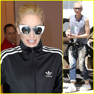 Gwen Stefani Leaves Los Angeles in Style
