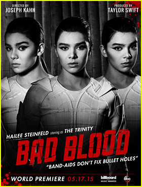 Hailee Steinfeld Becomes 'The Trinity' for Taylor Swift's Upcoming 'Bad Blood' Music Video!