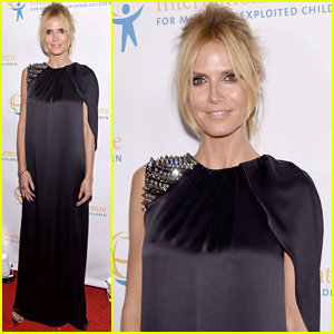Heidi Klum Dresses Up for International Centre of Missing & Exploited Children Gala