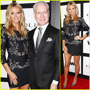 Heidi Klum Reunites with Tim Gunn at Clio Image Awards 2015!