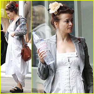 Helena Bonham Carter Looks Ready For Summer in a White Dress