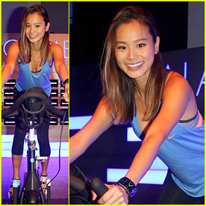 Jamie Chung Is Full of Adrenaline at Samsung Studio Spin Class