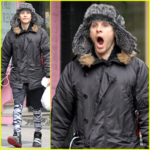 Sleepy Jared Leto Yawns Away in New York City