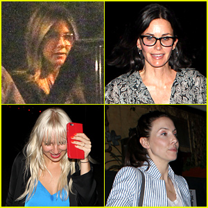 Jennifer Aniston, Courteney Cox, & Sia Have a Girl's Night Out!