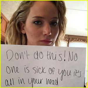 Jennifer Lawrence Shares Hilarious Note for David Letterman