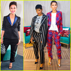 Emmanuelle Chriqui & Zendaya Hit Up The Reveal Of The Penthouse Inspired by Vivienne Westwood