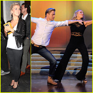 Julianne Hough Grabs Dinner With Dwts Judges After Semi Finals
