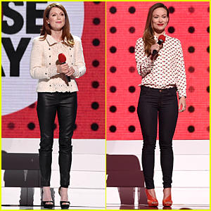 Julianne Moore & Olivia Wilde Hit the Stage During Red Nose Day Telecast
