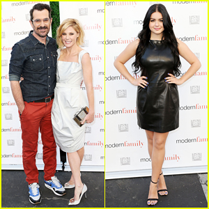 Surprising Julie Bowen Modern Family Cast Celebrate Season 6 Finale At Hairstyle Inspiration Daily Dogsangcom