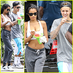 Justin Bieber Hangs Out with UK Model Jayde Pierce