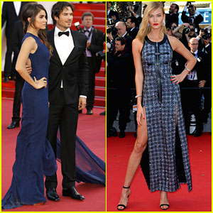 Nikki Reed & Ian Somerhalder Couple Up for 'Youth' Red Carpet at Cannes 2015