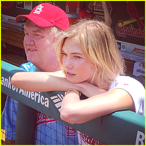 Karlie Kloss Throws First Pitch at Cardinals Game on Memorial Day