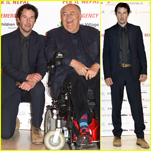 Keanu Reeves Reunites with Director Bernardo Bertolucci at 'Little Buddha' Charity Screening!