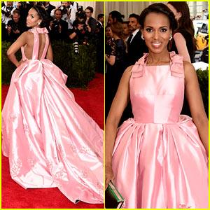 Kerry Washington Is Perfect in Pink Prada at Met Gala 2015!