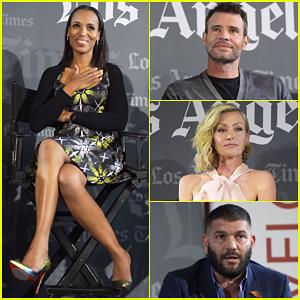 Kerry Washington, Scott Foley, & 'Scandal' Cast Wish Tony Goldwyn Happy Birthday at L.A Times Screening!