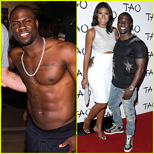 Kevin Hart Goes Shirtless at Memorial Day Weekend Party in Las Vegas