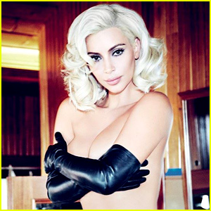 Kim Kardashian Channels Marilyn Monroe & Goes Topless for 'Vogue Brasil'
